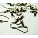 Apprêt 100 Boucles d'oreille crochets bronze ( boule )