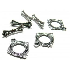 Apprêt bijoux 25 sets 2Y1203 magnifique fermoirs VA