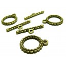Apprêt bijoux  10 sets 2Y6526 magnifique  fermoirs  bronze