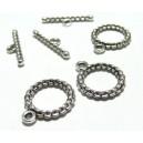 Apprêt bijoux  10 sets 2Y6328 magnifique  fermoirs  viel argent