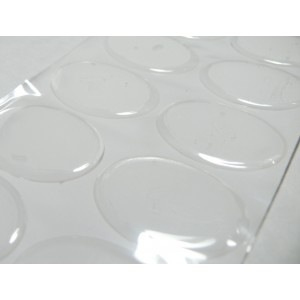 1 grand cabochon 30 par 40mm sticker autocollant epoxy transparent