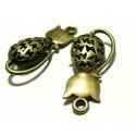Apprêt 1 pendentif breloque magnifique chat 3D bronze