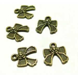 Apprêt bijoux 50 petits noeuds ref OB4952 Bronze