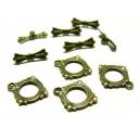 Apprêt bijoux  10 sets 2Y1403 magnifique  fermoirs  Bronze