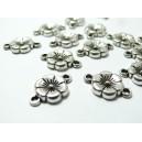 Apprêt bijoux 10 pièces connecteur fleur VA  2B4518