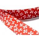 1 m ruban biais geométrique 20mm ref FF4039 collection 50 rouge
