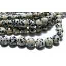 Apprêt bijoux 10 perles jaspe dalmatien  10mm