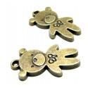 Apprêt bijoux 4 pendentifs ourson 2D1763 Bronze