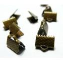 Apprêt 50 pièces griffe serre fils ruban 7.5mm Bronze
