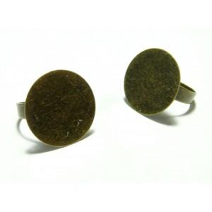 Apprêt bijoux 1 support bague plateau 20 mm BR
