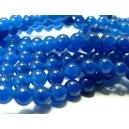 Apprêt bijoux 10 perles jade 6mm bleu nuit