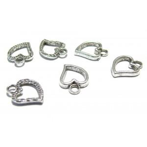 Apprêt bijoux 10 pendentifs breloque coeur VA ref 2Y7817