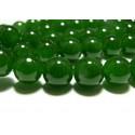 Apprêt bijoux 10 perles 8mm jade teintée couleur vert