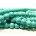 Apprêt bijoux 1 fil de 95 perles Turquoise Howlite 4mm