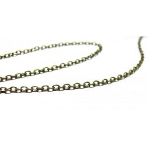 Apprêt bijoux 1 mètre Chaine ref P027Y bronze qualité laiton