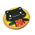 Apprêt mercerie 2 grands patch thermocollant Chat 55mm ref188527 237