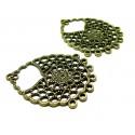 Apprêt bijoux 1 magnifique multiconnecteur bronze GM ref PEA064Y