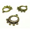 Apprêt bijoux 10 multi connecteurs rondP15353 Or antique