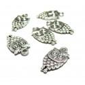Apprêt bijoux: 10 petits hibou 2Y3422 viel argent