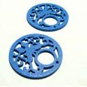 Apprêt et perles 10 grands pendentifs ref PTB196Y-1 papillon bois bleu