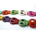Apprêt Lot de 10 moyens crane 20 par 21mm multicolor