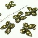 Apprêt 10 breloques bronze Papillon de nuit ref A2409