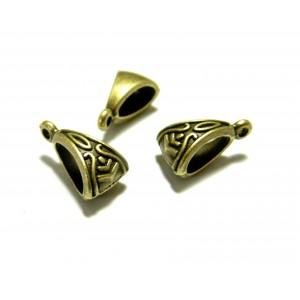 Apprêt bijoux 30 bélières passant 2W5403 Bronze