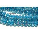 10 rondelles de cristal facetté gris bleu  6 par 8mm 2J1606