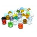 20 rondelles de verre facetté multicolores 4 par 3mm 2J2105