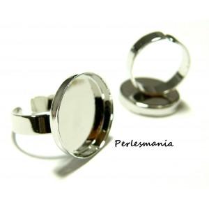 Perles et apprêts: 5 Supports de Bague 20 mm bord épais PP