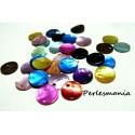 Apprêt et perles:  50 pendentifs nacre sequins ref P8M en 18mm