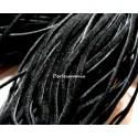 5 mètres de cordon plat en faux daim suédine noir 002Y-2
