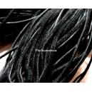 Apprêt et mercerie 10 mètres de cordon plat en faux daim suédine noir 002Y-2