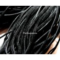 10 mètres de cordon plat en faux daim suédine noir 002Y-2