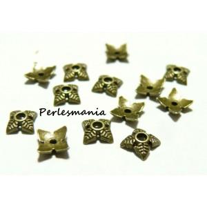 Apprêt et perles 100 pieces 2W6521 coupelles caps bronze
