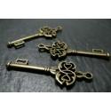 Apprêt bijoux 10 clé travaillées 2D2512 Bronze