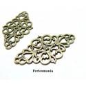 Apprêt bijoux 10 connecteur rétro losange 2D1936 Bronze