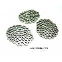 Apprêt bijoux: 2 pendentifs Racine de lotus 2B1406 Vieil argent