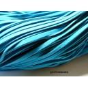 10 mètres de cordon plat en faux daim suédine bleu canard 001Y-10