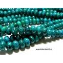 Apprêt et perles: 10 rondelles Turquoise bleu verte 6 par 10mm