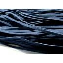 10 mètres de cordon plat en faux daim suédine bleu foncé 001Y-23
