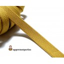 Apprêt mercerie: 1 m ruban biais 10mm doublé camel beige