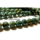 Apprêt et perles: 1 fil d'environ 110 perles Turquoise Africaine ronde 4mm