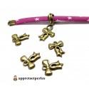 Apprêt bijoux 10 pendentifs petits noeuds ref 2K9119 Bronze