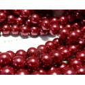 Apprêt et perles: 25 perles de verre nacre rouge 8mm ref 73