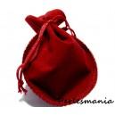 Apprêt mercerie 10 pochettes cadeaux velours rouge  MM (9 par 7cm )