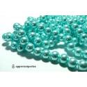 20 perles de verre nacre bleu ciel 10mm ref 12