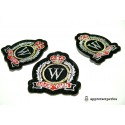 Apprêt mercerie: LOT de 2 patch thermocollant embleme blason university ref205