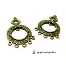 Apprêt bijoux 10 pendentifs multiconnecteur Touareg ref PE162Y Bronze