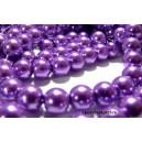 Perles pour bijoux: 20 perles de verre nacre vieux violet 10mm ref B15